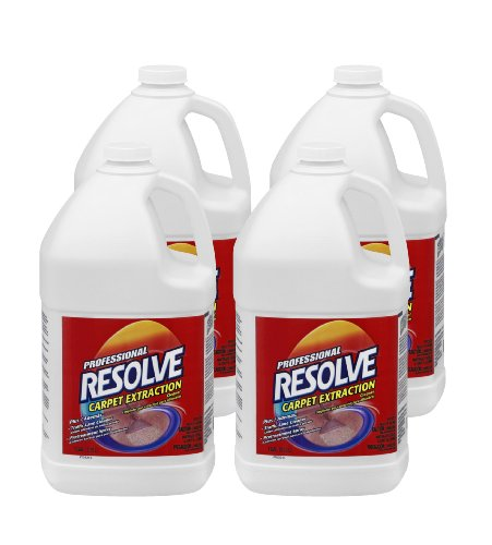 Professional Resolve Carpet Extraction, Traffic Lane Cleaner, Pretreatment Concentrate, Dilution, 1 Gallon (Case of 4)