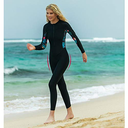 HUOFEIKE Womens Full Length Thin swimwear for Watersport Surfing Sailing Diving Swimming Snorkeling UV Protected Stretchy Comfy Diving Skin Swimsuit Keep Warm,XL