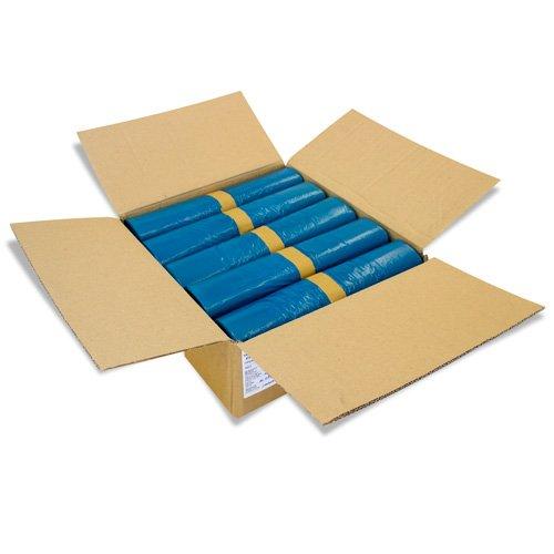 100 Stück Abfallsäcke Blau 240 Liter - 10 Stück auf Rolle - MÜLLSÄCKE aus LPDE-REGENERAT