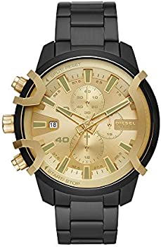 Diesel Griffed Chronograph Black Stainless Steel Watch