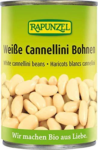 Rapunzel Bio Weiße Cannellini Bohnen in der Dose (6 x 400 gr)
