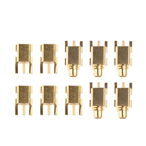 MagiDeal 5 STK. Vergoldeten MMCX Stecker männliches Verbindungsstück und 5 STK. MMCX Buchse Weibliches Connector für Shure SE215 / SE315 / SE425 / SE535 Kopfhörer