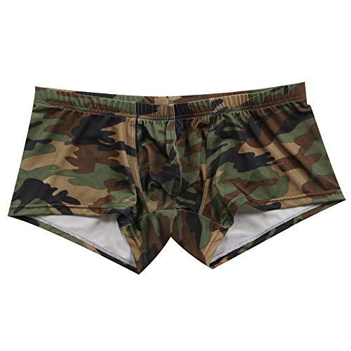 Daysing Herren Männer Junger Mann Unterhose Boxershorts Unterhosen 4er günstig für Slips Tarnung Eng anliegend Sexy Niedrig-Taille günstige und billig(Mehrfarbig,Medium)