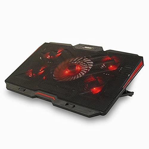 ゲーミングラップトップクーラーユニバーサル5ファンUSBポートラップトップ冷却パッドノートパソコンスタンドラップトップゲーミングクールスタンド用