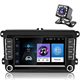 Hikity Android Radio de Coche con navegación GPS Bluetooth Car Stereo de 7 Pulgadas para VW Golf Passat Polo Touran con FM/ Am/ Canbus Box/ Mirror-Link/Cámara De Visión Trasera