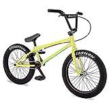 Eastern Bikes Javelin Bicicleta BMX de 20 pulgadas, amarillo neón, Chromoly Down & Steerer Tube