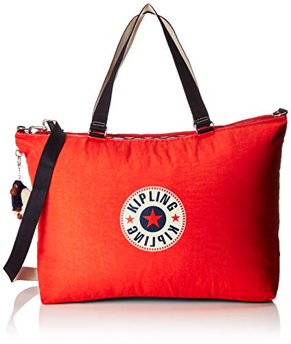 Kipling XL BAG Bolsa de tela y playa, 64 cm, 31.5 liters, Rojo (Active Red Bl)