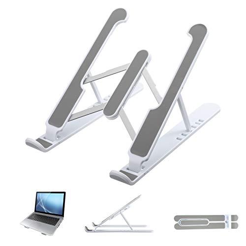 umorismo Supporto pieghevole per laptop in plastica a 7 livelli, regolabile in altezza, per laptop, tablet, colore: bianco