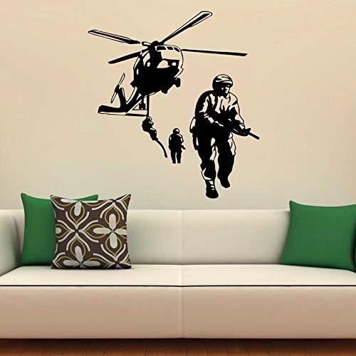 mlpnko Luftwaffe Hubschrauber Army Military War Exercise Wandaufkleber Vinyl Dekorative Innenarchitektur Aufkleber Zimmer Teen Schlafzimmer Wandbild 75x113 cm