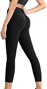 Dcohmch Women's Workout Yoga Pants (Medium, Black)