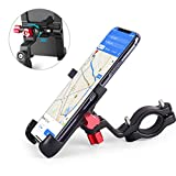 homeasy Bike Phone Mount Universal, Bicycle Holder Handlebar Cellphone Adjustable Fall Prevention, Fits iPhone Xs|XS Max, XR, X, 8 | 8 Plus, Galaxy S9, Holds Phones from 3.5-7' Wide, Black
