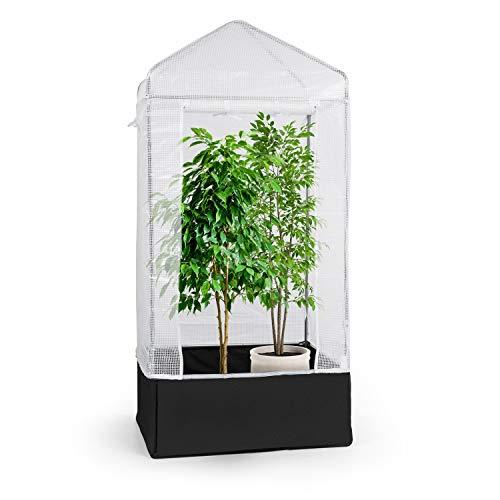 Waldbeck Plant Palace X1 Gewächshaus Folienzelt Grow Box, Maße: 100 x 220 x 100 cm (BxHxT), verzinkter Stahlrohrrahmen Ø25mm, PVC-Gitterfolie: reißfest, lichtdurchlässig, UV-beständig & wasserdicht