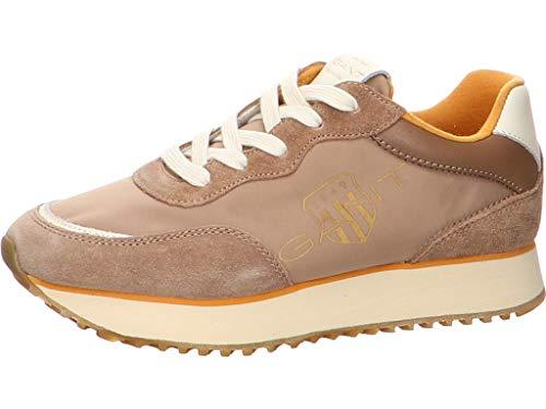 GANT Footwear Damen BEVINDA Sneaker, Warm Khaki, 41 EU
