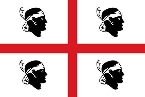 DIPLOMAT Flagge Sardinia | It is Easy to Put a Border Around This Flag Image | Regione autonoma Italiana Sardegna | Sa regione autònoma de sa Sardinna | Querformat Fahne | 0.06m² | 20x30cm f&uum
