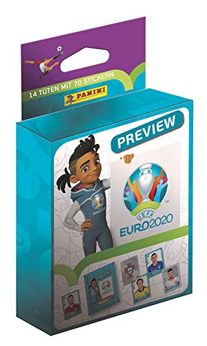 Panini EURO 2020 Preview, Sammelsticker Sonderkollektion, Blister mit 14 Tütchen (70 Sticker)