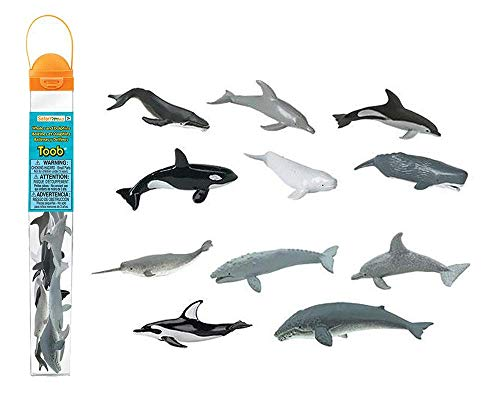 Safari Ltd. - Wale und Delphine Toob 694704 -12 Handbemalte Sammelfiguren in Tube