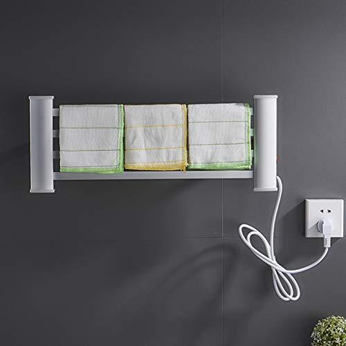 Toallero HLF eléctrico Guardar el baño de la casa, tendedero de Cocina, eléctrico sin Perforaciones, tamaño: 21X55 cm