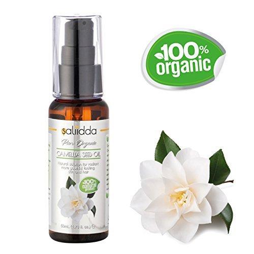 Organic olio di semi di camelia - 100% puro e naturale - olio vettore non diluito. potente antiossidante per ammorbidire i capelli, pelle e delle unghie (50 ml)