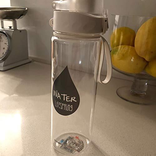 BEDLBX trinkflasche Sport Reise Sport Drinkware Hitzebeständig Leckdichte Wasserflasche, Outdoor-wanderliebhaber Geschenk Wasserflaschen 500ml weiß