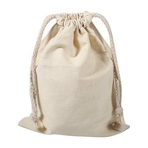 Bolsas de Cordón de Algodón, Bolsa de Tela para Saco de lavandería con cordón de algodón para el hogar, para Uso doméstico de Viaje(22 * 28cm)