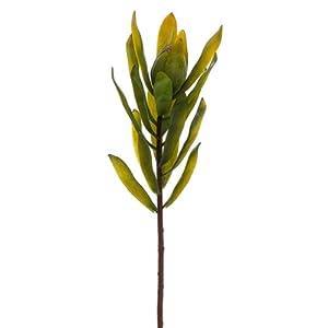 22″ Silk Protea Flower Spray -Green (pack of 12)
