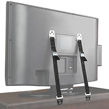 Jambini Metal Furniture / TV Safety Straps - TV Anti Tip Straps - Earthquake Straps  2 Pack