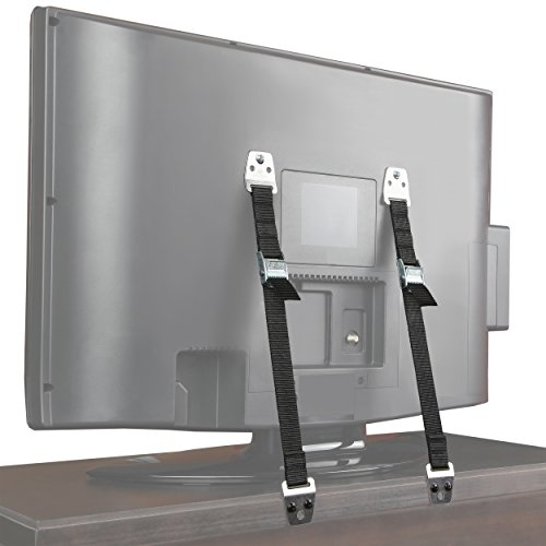 Jambini Metal Furniture   TV Safety Straps - TV Anti Tip Straps - Earthquake Straps (2 Pack)