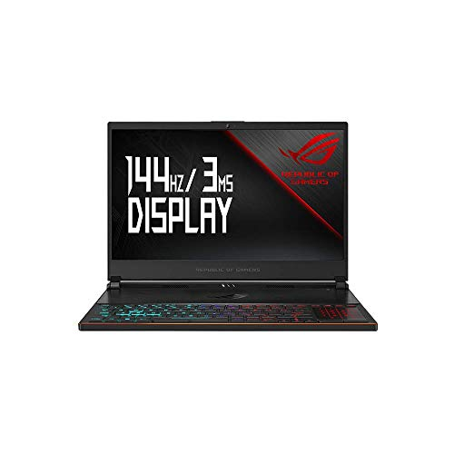 Asus ROG Zephyrus S GX531GX 39, 6 cm (15, 6 Zoll, FHD, Wv, 144Hz/3ms, matt) Gaming-Notebook (Intel Core I7-8750H, 16GB RAM, 1TB SSD, Nvidia GeForce Rtx 2080 (8GB), Windows 10 Professional) Black Metal