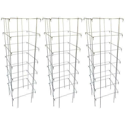 Happy Trees Large Heavy Duty Tomato Cages - Support for Climbing Vegetables...