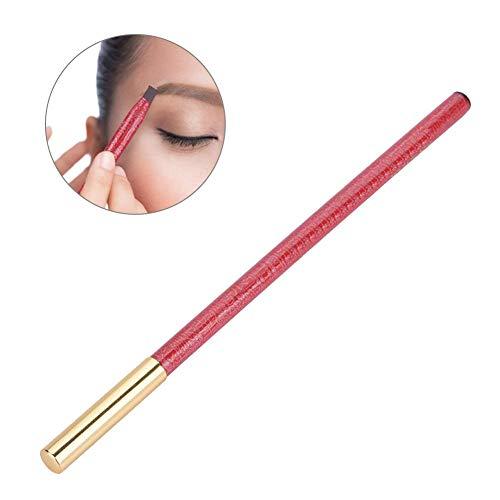 Crayon de sourcil de corde de traction de pelage, outil semi-permanent de tatouage de Microblading plaçant le crayon de sourcil de longue durée imperméable(café)