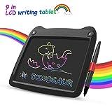 Tavoletta LCD da Disegno a Colori 9 Pollici Ewriter Digitale Scrittura Grafica Lavagna Eelettronica Cancellabile Writing Tablet Drawing Pad Regalo Bambini 3+, 6 a 12 Anni Ragazze, Nero