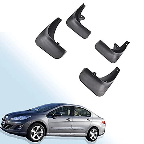 WXHBB Guardabarros para Coche, Guardabarros Delantero y Trasero, Guardabarros para Peugeot 408 Sedan 2010-2015, Accesorios de decoración Exterior de Coche, 4 Piezas