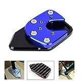 Yctze Cavalletto laterale antiscivolo per moto in lega di alluminio Prolunga per cavalletto Ingrandisci misura per Honda NC750X/X-ADV 17-19(blu zaffiro)