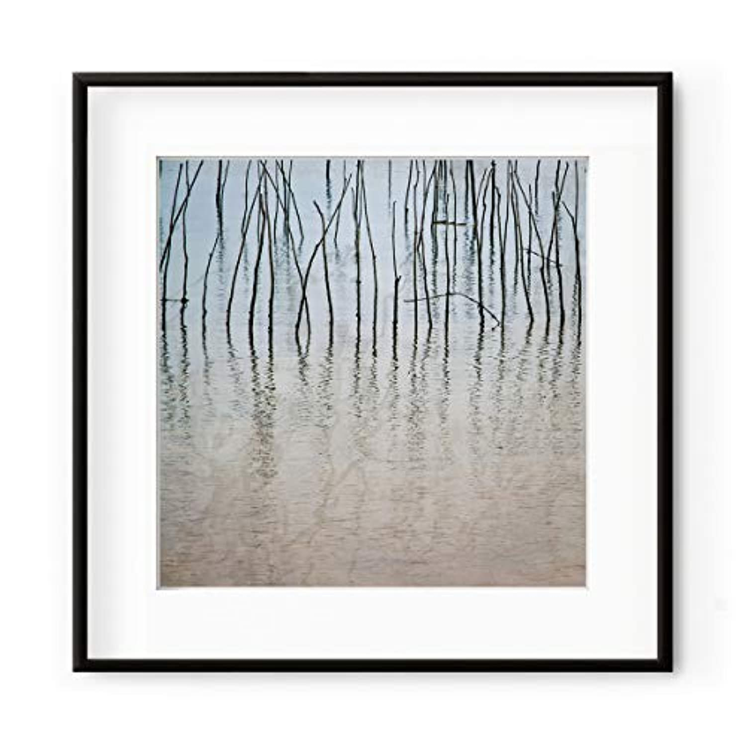 Arcachon Pegs, Natural Solid Oak Frame, with Mount, Multicolored, 40x40