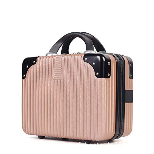 Small Make-up Bag Women's Luggage 14 inches Rose Gold