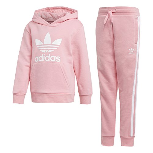 adidas Trefoil Hoodie Kapuzenjacken-Set, Light Pink/White, 110