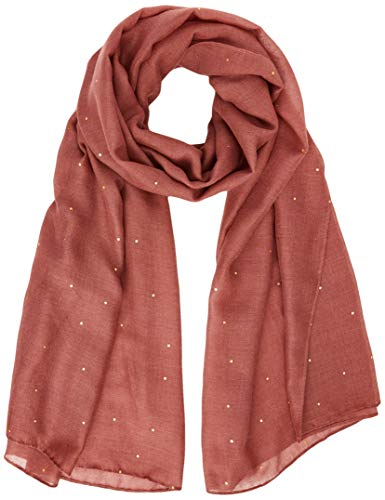 PIECES Damen PCDIMOLADE LONG SCARF KAC FC Schal, Apple Butter/Pattern:FOIL Gold DOT, ONE SIZE