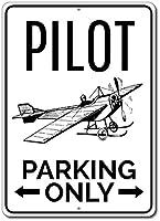パイロット駐車場のみ。金属スズサイン通知街路交通危険警告耐久性、防水性、防錆性