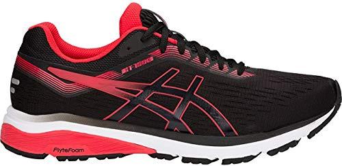ASICS Mens GT-1000 7 Running Shoe, Black/Red Alert, Size 10