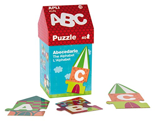Apli kids-Caja puzzle casita ABC, 40 unidades