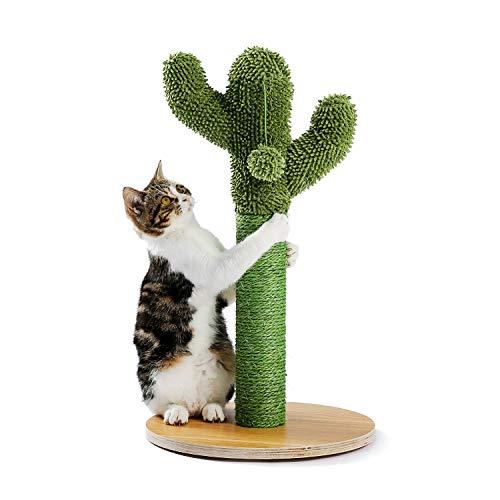 Amea Cactus Cat Rasguing Post con Sisal Cuerda Cat Scratcher Cactus para Gatos jóvenes y Adultos Cat Scratch Toy