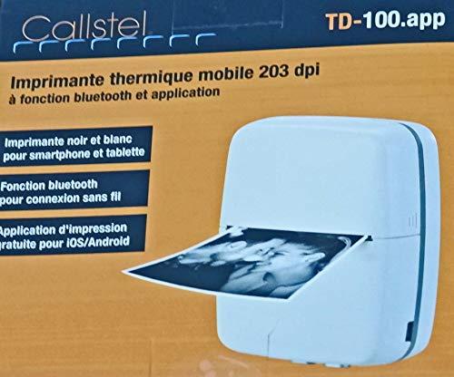 Callstel Fotodrucker: Mobiler Akku-Foto-Thermodrucker für Android & iOS, Blutooth, App, (Drucker)