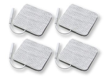 4 Stück Elektroden 50x50 mm für SaneoTENS, SaneoSPORT, SaneoVITAL und andere TENS EMS Reizstromgeräte