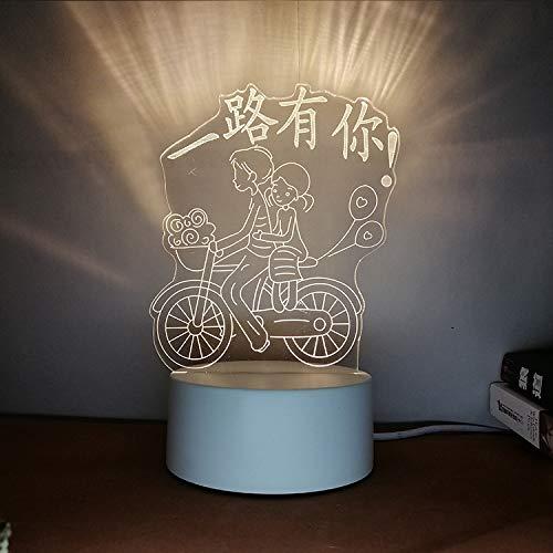 Kreatives Nachtlicht 3D dreidimensionale Beschriftung DIY Persönlichkeit Design Tischlampe Geschenk praktisch sinnvoll die ganze Art, wie Sie DREI Farben 3W haben