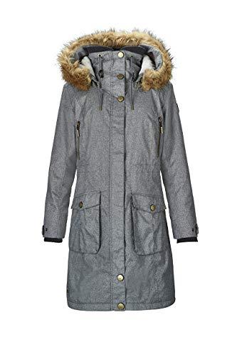 G.I.G.A. DX Damen Dokama Funktionsjacke/Parka/Winter Mantel Mit Abknöpfbarer Kapuze, Wassersäule 8000 Mm, Mittelgrau, 44