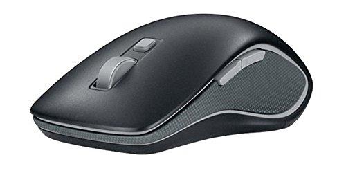 Logitech M560 Kabellose Maus, 2.4 GHz Verbindung via Unifying USB-Empfänger, 1000 DPI Sensor, 18-Monate Akkulaufzeit, Für Links- und Rechtshänder, 7 Tasten, PC/Mac - schwarz, Englische Verpackung