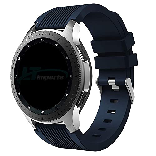 Pulseira Clássica 22mm compatível com Samsung Galaxy Watch 3 45mm - Galaxy Watch 46mm - Gear S3 Frontier - Amazfit GTR 47mm - Marca Ltimports (Azul Night)