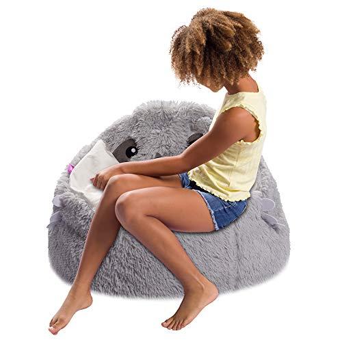 Posh Creations Cute Soft and Comfy Bean Bag Chair for Kids, Animal - Grey Sloth