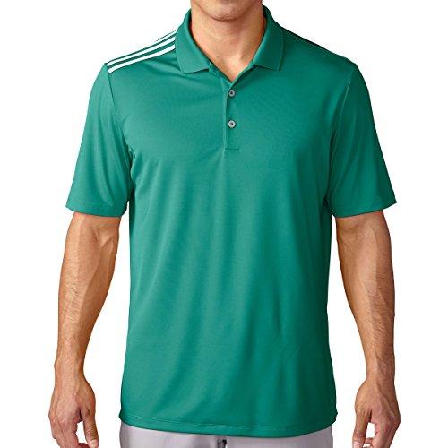 adidas 2016 Climacool 3 Stripes Shoulder Lightweight Mens Golf Polo Shirt EQT GreenWhite Small