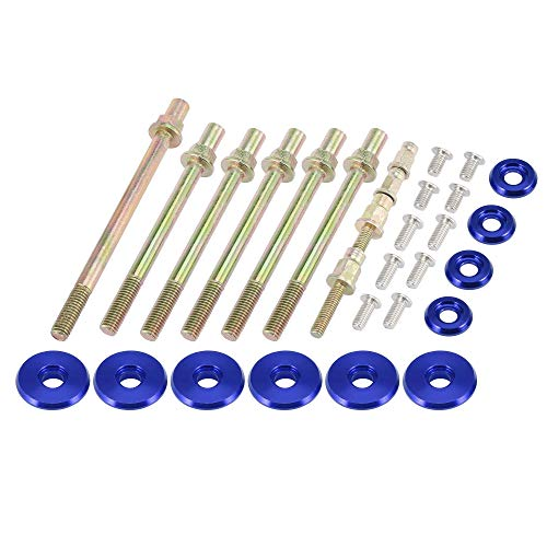 X AUTOHAUX Low Profile Engine Valve Cover Washer Bolt Kit Blue for Acura for Honda K-Series Engines K20 K24